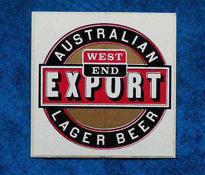 WEST END EXPORT ..  Original Vintage  1980,s  Pub  Beer Fridge sticker