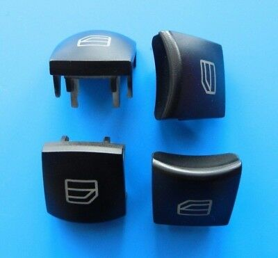 2X Window Switch Button Cover Cap Rear Left and Right Side Mercedes W169 W245