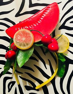Fascinator Headpiece Fruity 50's Kitsch Handmade One off Wedding
