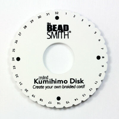 BeadSmith Kumihimo Mini Disk Creat a Rounded Braid * Braiding Project Tool