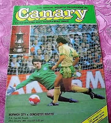 Norwich City  V  Doncaster Rovers 1981-82 Fa Cup
