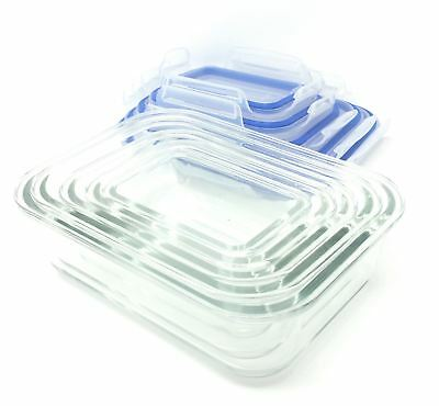 Freezer To Oven Safe 10 Piece Glass Storage Container & Bpa Free Clip Lid Set