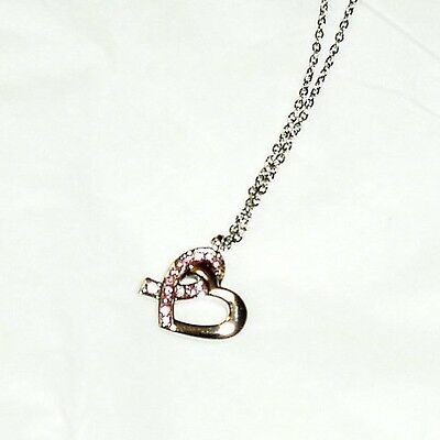 Swarovski crystal heart shaped necklace from Caravelle New York