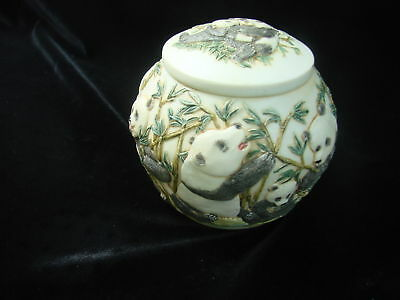 Jardinia Panda Joy Luck Club Cache Jar with Lid
