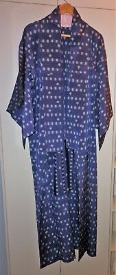 Vintage Japanese Classic  Navy Blue Kimono Great Condition