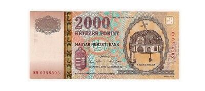 HUNGARY - 2000 Forint 2000, Millennium commemorative banknote