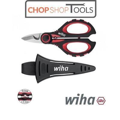 WIHA SHEARS SCISSORS Cable Skinning / Stripper Crimp Function Electricians 41923