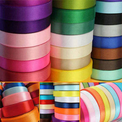 20m/50m Double Sided Faced SATIN Tying Ribbon 3,7,9,15,25,38mm [All 42 Colors]