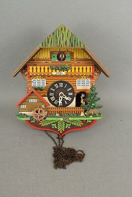 Modern Vintage Cuckoo Clock With Music Box For Spares Or Repair