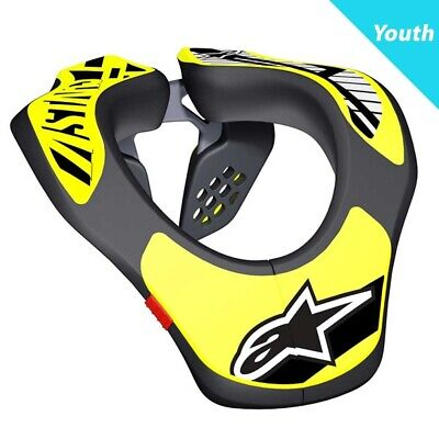 Alpinestars 2019 Youth MX Motocross Neck Support - Black/Yellow Fluo