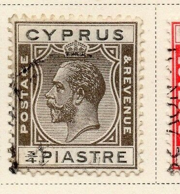 Cyprus 1925 Early Issue Fine Used 3/4p. 220342