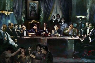 Gangsters Last Supper Godfather Sopranos Scarface De Niro Poster New  !