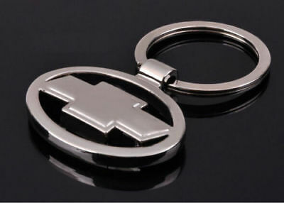 Chevrolet 3D Chromed Car Logos Titanium Key Chain Keychain Ring Keyfob Metal