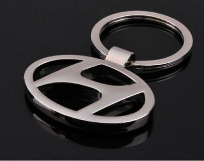 Hyundai 3D Chromed Car Logos Titanium Key Chain Keychain Ring Keyfob Metal