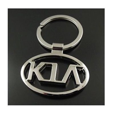 KIA 3D Chromed Car Logos Titanium Key Chain Keychain Ring Keyfob Metal Keyrings