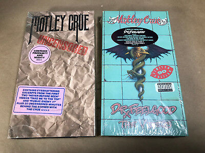Vtg Lot Of 2 Vhs Tapes Motley Crue Dr. Feelgood The Videos 1990 Uncensored 1986