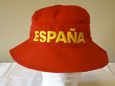 Spain Official Licensed Reversible Bucket Hat Adults New