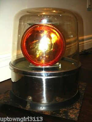 VIDEO 1970s salvaged RETRO roller rink REVOLVING BEACON LIGHT professional AMBER