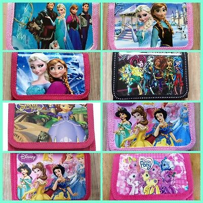 *NEW* Girls Frozen,Monster High,Sofia, Disney Princess, My Lil Pony Wallet-Purse