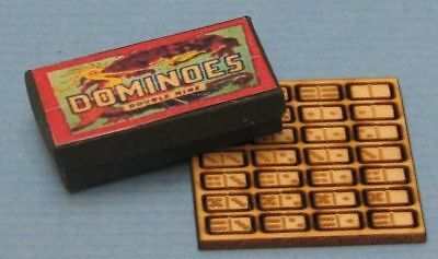 Dollhouse Miniature Dominoes Kit - New - 1:12 Scale
