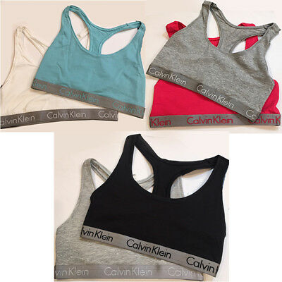 fd2bda66ae5974 NWT CALVIN KLEIN Radiant Women s Bralette Sports Bra Top SET OF 2 Sizes S
