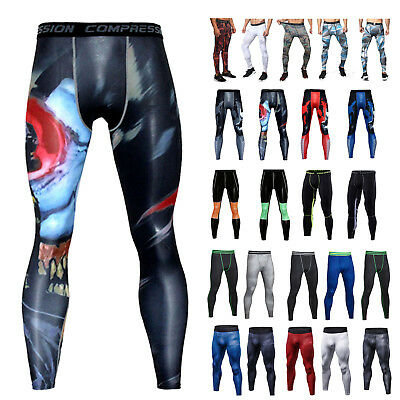 Gym Mens Compression Fitness Tights Base Layer Camouflage Sports Running Pants