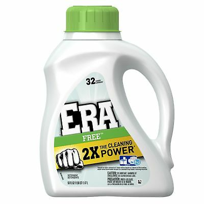 Era 2x Ultra Free Liquid Detergent 32 Loads 50 Fluid Ounce (Pack of 6) New