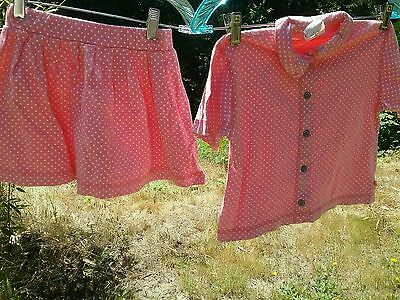 True Vintage 1970s summer girl dress spring sz 5 to 6 yr sundress matching 2 pc