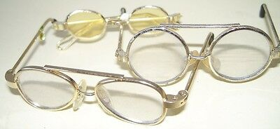 3 x pr Doll/Teddy Glasses. Metal. New!