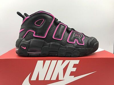 Nike Air More Uptempo GS Black Pink Blast Youth Women Multiple Sizes 415082-003