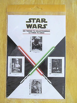 STAR WARS Planche collector 4 TIMBRES 2015 sous blister R2 D2