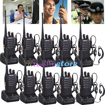 10Pcs Baofeng BF-888S Walkie Talkie Two-way Radio Interphone 5W 400-470MHz 16CH