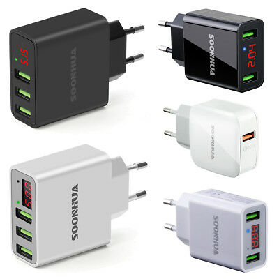 Universal 2/3-Port USB 5V 3A Wall Home Travel AC Fast Charger Adapter Lot