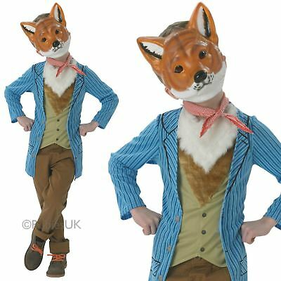 Kids Boys Fantastic Mr Fox Fancy Dress Book Week Animal Costume Outfit New