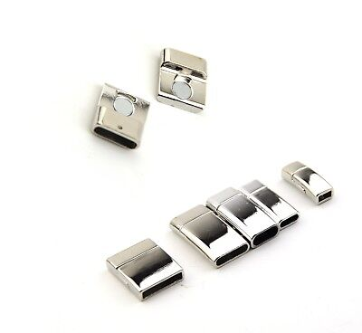Interlock Magnetic Clasp for Jewellery Craft Various Size Holes  Leather Strings