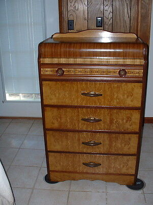 Waterfall Art Deco Antique 5 drawer dresser--Pick Up Only in NW Arkansas