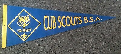 Vintage Cub Scout B.S.A. Pennant Boys Scouts of America