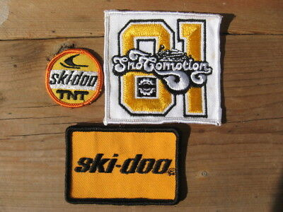 3X Vintage Ski Doo Bombardier New Old Stock Patch Sign Tnt Snowmobile Free S