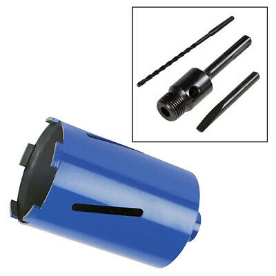 107Mm X 150Mm Diamond Core Drill + 100Mm Sds Arbor + Pilot Drill