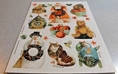 Marjolein Bastin Santa/Snowmen Christmas Stickers~Beautiful