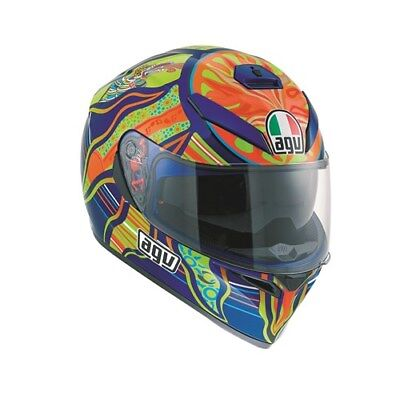 Agv K3 SV Rossi 5 Continents DVS ACU Gold Full Face Pinlock Motorcycle Helmet