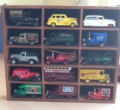 Model Car Display Cabinet With 15 Days Gone Vehicles