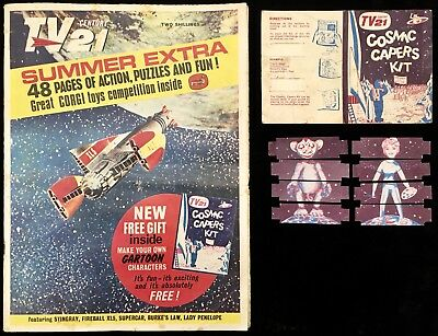 TV Century 21 TV21 Summer Special Extra 1965 With Free Gift Cosmic Capers Kit