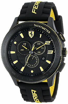 Ferrari Men's 830139 Scuderia XX Chronograph 48mm Black/Yellow Watch 0830139