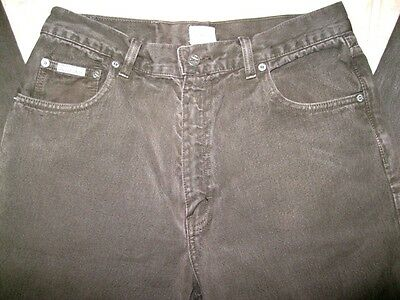 Vintage Calvin Klein Olive Army Green Relaxed Fit Tapered Leg Jeans Men's 32x32