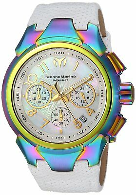 Technomarine TM-715038 Sea Women's 42mm Chronograph Rainbow Plating White Dial