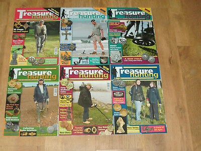 Metal Detecting  Magazines Field Tests Finds Coins Treasure Hunting X 6