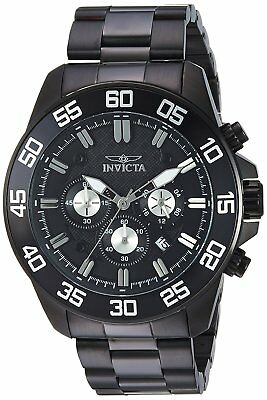 Invicta 24735 Pro Diver Men's 48mm Chronograph Black Stainless Steel Black Dial