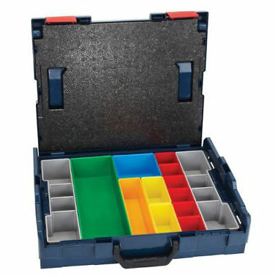 "Bosch 4"" Storage Case with 13pc Insert Set L-BOXX1A New"