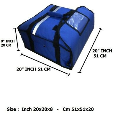 THERMAL PIZZA DELIVERY BAG Size 18x18x8 inch Full Insulated all sides keep warm